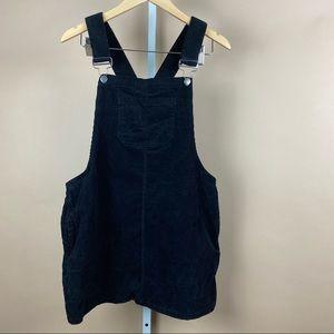 Girls Corduroy Overall Dress Large Black